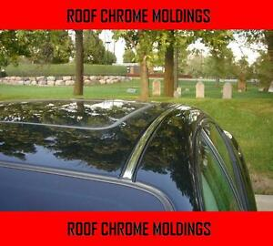 2 Piece Chrome Silver Top Roof Overlay Molding Trim Kit For Mercedes Models