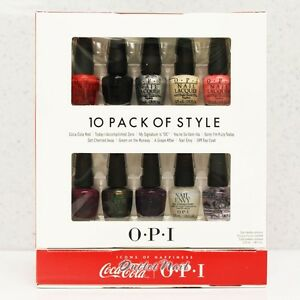 OPI COCA COLA Mini 10 PACK OF STYLE Collection Perfect Ten Set ~ TAKE / TOP TEN
