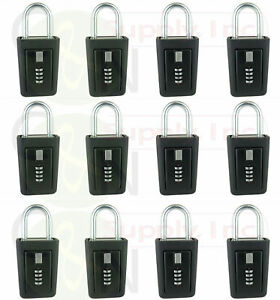 12 Lockboxes Realtor Key Lock Box Real Estate 4 Digit Lockbox