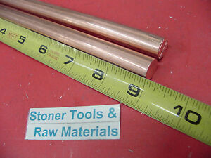 2 Pieces 1 2 C110 Copper Round Rod 9 Long H04 Solid Cu New Lathe Bar Stock
