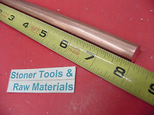1 2 C110 Copper Round Rod 8 Long H04 Solid 50 Od Cu New Lathe Bar Stock
