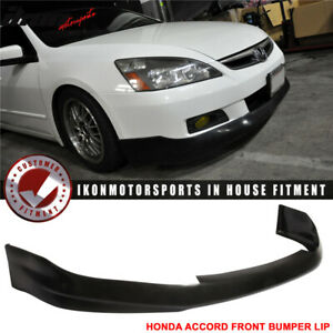 Fits 06 07 Honda Accord 2dr Urethane Front Bumper Lip Spoiler Hfp Style Pu
