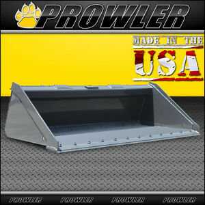 Prowler 72 Inch Long Bottom Skid Steer Bucket With Bolt On Cutting Edge 72