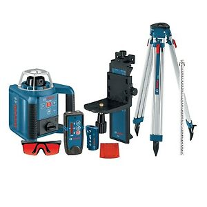 Bosch Grl300hvck Self leveling Laser W Receiver Remote Tri pod And Mount