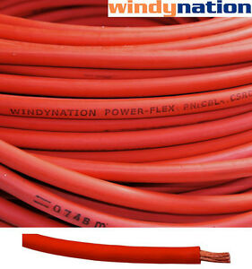 30 4 Awg Red Welding Cable Gauge Copper Wire Battery Solar Rv Car Boat Leads