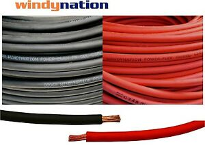 100 2 Awg Welding Cable 50 Red 50 Black Gauge Copper Wire Battery Solar Leads