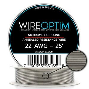 22 Gauge Awg Nichrome 80 Wire 25 Length N80 Wire 22g Ga 0 64 Mm 25 Ft
