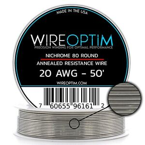 20 Gauge Awg Nichrome 80 Wire 50 Length N80 Wire 20g Ga 0 81 Mm 50 Ft