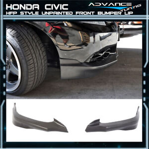 Fits 12 13 Honda Civic 9th Gen 2dr Hfp Front Bumper Lip Spoiler Pu