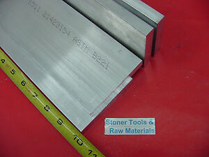 4 Pieces 5 8 X 4 Aluminum 6061 Flat Bar 10 Long Solid T6511 New Mill Stock