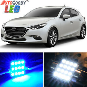 8 X Premium Blue Led Lights Interior Package Kit For 2010 2018 Mazda 3 Tool