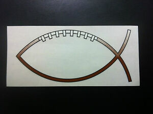 Football Jesus Fish Car Decal fundraising Opportunity