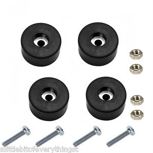 Set Of 4 Air Compressor Rubber Feet Foot Mount Mounting Screws Nuts