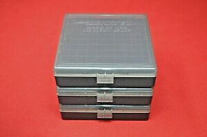 45 ACP  40 CAL  10MM PLASTIC STORAGE AMMO BOXES SMOKE (3 PACK) BERRY'S MFG.
