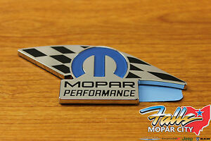 Chrysler Dodge Jeep Ram Mopar Performance Stick on Emblem Badge Oem 82214234