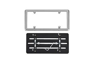 Front Bumper License Plate Holder Mount Bracket Chrome Frame For Mercedes Benz