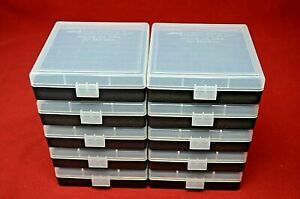9mm  380 (10 PACK) 100 ROUND PLASTIC STORAGE AMMO BOXES (CLEAR) BERRY'S MFG