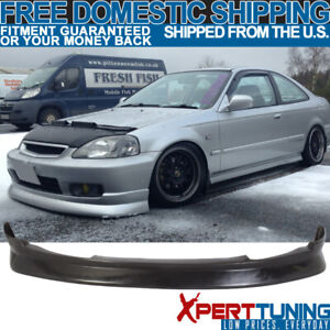 Fits 1999 2000 Honda Civic 2 3 4 Door Cs Style Pu Front Bumper Lip Bodykit