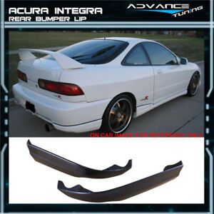 Fits 98 01 Acura Integra Coupe Black Rear Bumper Lip 2pc Set Pu Valance Spats