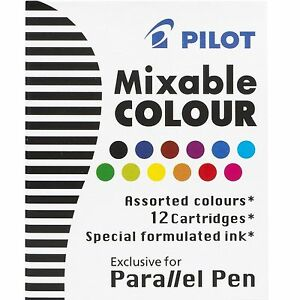 12 Each Of Pilot Icp31 Parallel Pen Refill 12 Color Assortment pil 77312