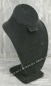 Black Velvet Necklace Earring Combo Display Stand 10 H