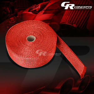 Racing Exhaust Header Turbo Manifold Heat Insulation Wrap 2 X 1 16 X 600 Red