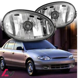 Fog Light Replacements For 1998 1999 Hyundai Accent Oe Fit Factory Look Clear