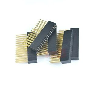 50pcs 2 54mm 2x13 26pin Double Row Female Stackable Straight Header Socket Strip