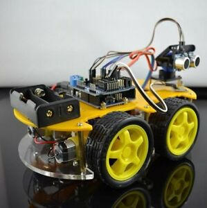 Bluetooth Multi function Intelligent Smart Car Kit Uno R3 Diy For Arduino Robot