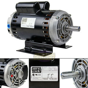 6 4 Hp 3450 Rpm Single Phase 240v 56 Frame Electric Air Compressor Motor 7 8