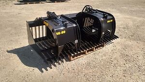 New 60 Rock Skeleton Bucket With Grapples 48 Opening Gr 50 Steel Skid Steer