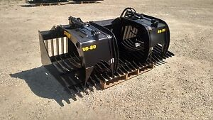New 72 Rock Skeleton Bucket With Grapples 48 Opening Gr 50 Steel Skid Steer