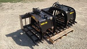 72 Skid Steer Root Rock Grapple Wide Opening High Quality Free Shipping