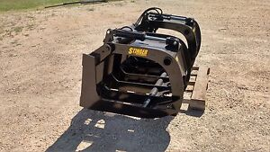 85 Skid Steer Root Rake Grapple High Quality Attachment Free Business Shipping