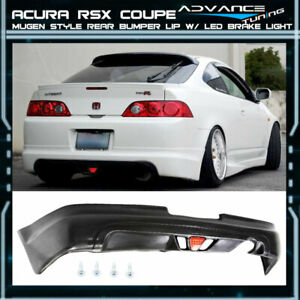 For 05 06 Acura Rsx Dc5 Type S 2dr Mugen Pu Rear Bumper Lip Spoiler Led Light