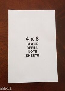 Refill Note Paper Loose Replacement Sheets 4 X 6 100 Sheets Lot Of 3