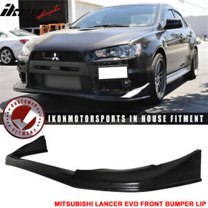Fits 08 15 Lancer Evo 10 X Evoluation V style Front Bumper Lip Spoiler Jdm