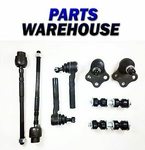 8 Pc Suspension Kit For Chevrolet Pontiac Tie Rod End Ball Joints