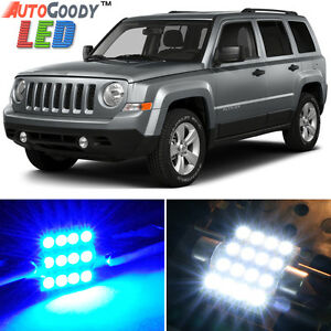 8 X Premium Blue Led Lights Interior Package For Jeep Patriot Compass Tool