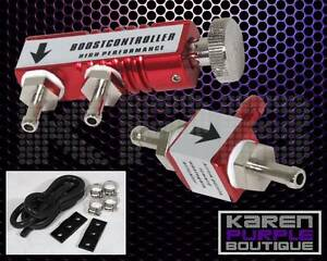 Red Universal Adjustable Racing Turbo 30psi Manual Boost Bypass Controller Kit