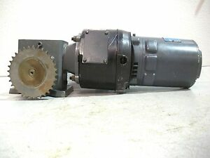 Rx 73 Boston Gear Motor W Gear Reducer And Stearns Brake 1 4hp 3ph 1725rpm