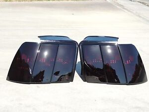 99 04 Mustang Smoked Tail Lights Oem Black Tinted Non Led Ford Custom Made