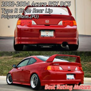 Tr Style Rear Bumper Lip Urethane Fits 02 04 Acura Rsx 2dr