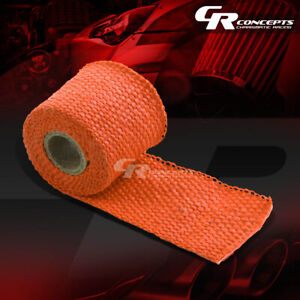 5ft 60 L 2 W Header Exhaust Turbo Intake Manifold Pipe Orange Heat Wrap Tape