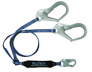 Falltech 826073 Y leg For 100 Tie off With Snap Hook And 2 Rebar Hooks