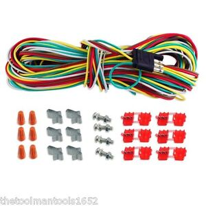 25 4 Way Trailer Wiring Connection Kit Flat Trailer Light Extension New