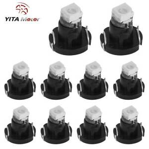 Yitamotor 10pcs Blue T3 Neo Wedge Led Bulb Cluster Instrument Dash Climate Light