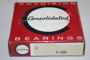Consolidated N 309 Cylindrical Roller Bearing N309 New