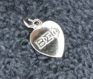 Sterling Silver Scrap Not 1 Gram Beta Sigma Phi Honor Society Heart Charm