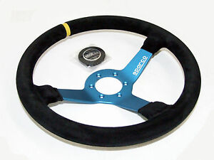 Sparco Steering Wheel L550 Monza 350mm 63mm Dish Suede Blue